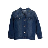 Куртка джинсовая (3-12)-с цветными звёздочками и на спинке единорог голубой хлопок 560401
