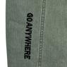 Джинсы (26-30) - Мом, сзади шов, по низу вертикальная вышитая надпись, с ремнём фисташковый хлопок 6080