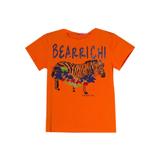 Футболка (13-21)-зебра из мелких камешков оранжевый 561245-2