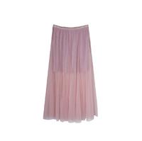 Юбка (длинная)-на резинке,короткая юбка с люриксом.верхняя длинная сетка розовый сетка 3093