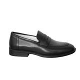 Туфли (31-36)-двойная резинка на язычке, по шву фигурная отстрочка черный кожа 02-15-1