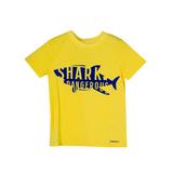 Футболка (92-122)-с ярко-синей надписью жёлтый хлопок 518012-В