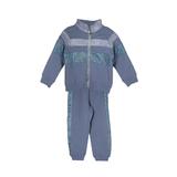 Костюм спортивный (3-11)-кофта воротник-стойка,с серебристами широкими полосами+брюки с лампасами на манжнтах голубой 768258-2